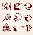restaurant elements set vector image