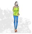 trendy color look vector image