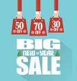 big new year sale modern flat design vector image