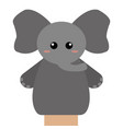 cute puppet animal vector image