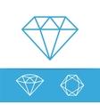 Diamond icons set vector image