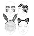 face lacy mask vector image