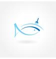 fishing symbol icon emblem vector image