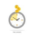 Flat time is money vector image
