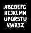 hand drawn ink brush latin alphabet vector image
