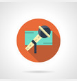 musical performance flat round icon vector image