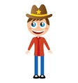 sheriff character comic law vector image