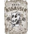 skull and assassin vector image