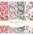 Vintage polka dot seamless patterns set of four vector image