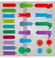 Collection of colorful ribbon icons vector image