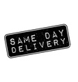 Same Day Delivery rubber stamp vector image