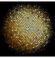 Gold disco lights background vector image