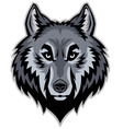 wolf head mascot vector image