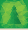 Triangular Christmas card vector image vector image