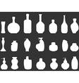 white Bathroom bottles silhouettes vector image