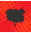Black comic bubble vector image