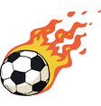 fire ball vector image
