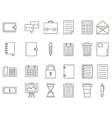 Accounting black icons set vector image vector image