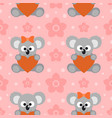 seamless background with funny koalas vector image
