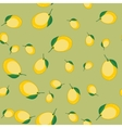 Seamless pattern with cartoon lemons Fruits vector image