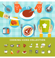 Cooking Elements Set vector image