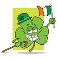 Shamrock Character Wearing A Green Hat vector image vector image