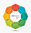polygonal circle chart infographic template with 8 vector image