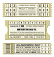 Bus ticket set vector image