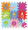 baby signs made with puzzle vector image