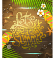 Lets have a great summer - lettering design vector image