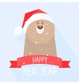 Bear new year vector image vector image