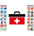First Aid Toolbox Icon vector image