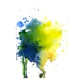 Spot watercolor art hand paint isolated vector image
