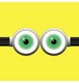 Goggle with Two Green Eyes vector image