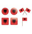 badges with flag of Albania vector image vector image