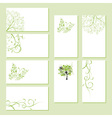 Set of business cards floral ornament vector image vector image