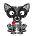 Funny dog on white background vector image