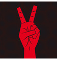 hand victory sign vector image