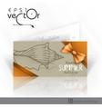 Invitation Card Design Template vector image