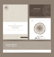 Set of corporate business card folder banner Eco vector image