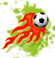 soccer ball on fire vector image