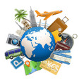 Tourism Concept with Globe vector image