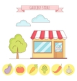 grocery store with vector image