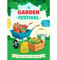 Garden Festival Poster vector image