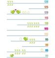 Measure of children growth vector image