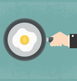 fried egg with dollar yolk vector image