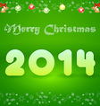postcard with the inscription 2014 Merry Christmas vector image vector image