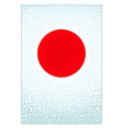 Pattern Japanese flag vector image vector image