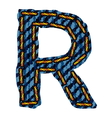 Farmerke tekstura slovo R resize vector image vector image