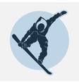 Snowboarding sport emblem vector image